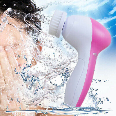 5IN1 Multifunction Electronic Face Facial Cleansing Brush Spa Skin Care massager