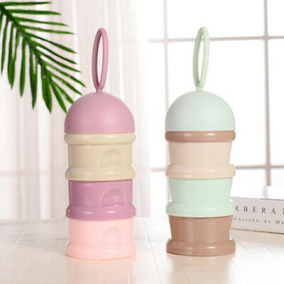 3 Layers Baby Milk Powder Feeding Case Box Formula Dispenser Food Container AA3