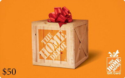 $75 (1 x $50 and 1 x $25) Home Depot Cards - Standard 1st Class Mail Delivery