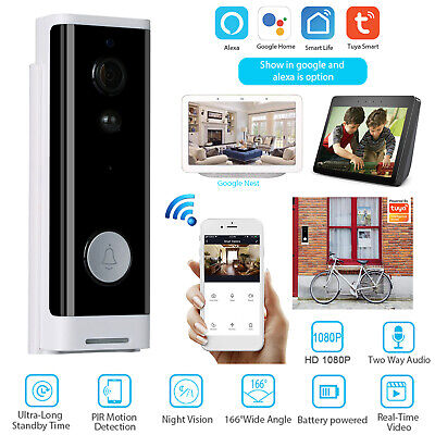 Tuya Wireless WiFi Smart Video Doorbell 1080p Infrared Home Security IP Camera