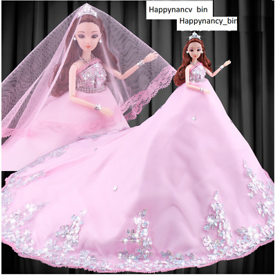 Popular Barbie Doll sized Cloth-A good White Gown +A White Veil-Best Girl gift**