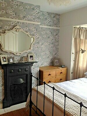 NEW 2 х Laura Ashley Wallpaper Iona Slate Grey
