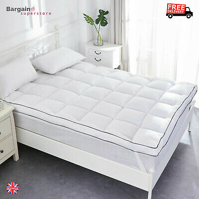 Duck Feather Mattress Topper King Size Bed Cover Toper Hypoallergenic Dust Mites