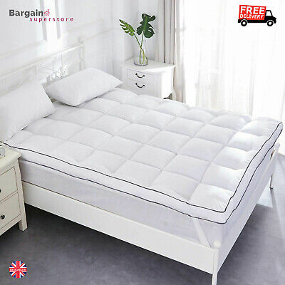 Duck Feather Mattress Topper Super King Size Bed Toper Cover Hypoallergenic Dust