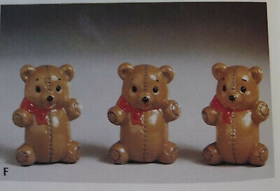 Ceramic Mold of 3 small Bears Duncan282C Used