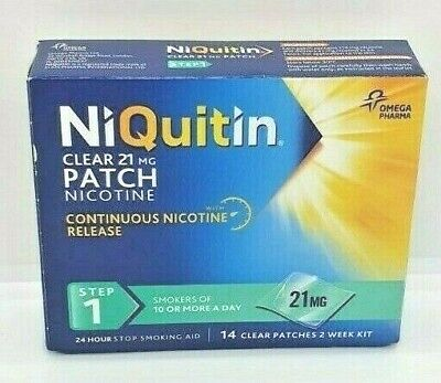 NiQuitin 21mg 24 Hour Clear Patches - Step 1 14 Clear Patches 2 Week Kit