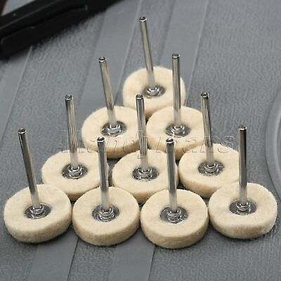 10x Wool Felt Polishing Buffing Drill Grinder Wheel Brushes Power Tool Wholesale