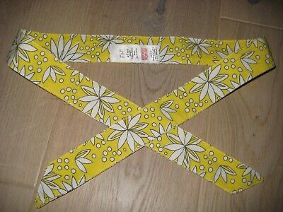 Girls yellow and white flower fabric belt age 4-5yrs
