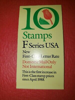 "US MNH Postage Stamps-Scott #2519 ""F"" Series Tulip 29c Booklet of 10 (1991-94)"