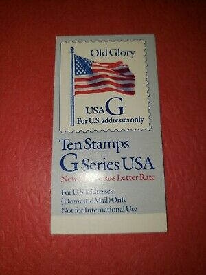 "US MNH Postage Stamps-Scott #2884 ""G"" Series Old Glory 32c Booklet of 10 (94-95)"