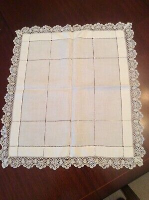 Gorgeous Crochet lace edged  table topper (V2)