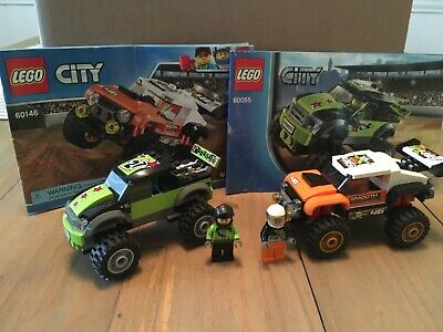 Lot of 2 Lego City Sets - Monster Truck (60055) & Stunt Truck (60146)- Complete!