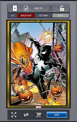 Rare - MARVEL Collect! - Comic Book Day - Symbiote Spider-Man #1 - Gold - CC1000