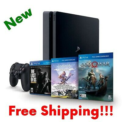 New PlayStation 4 Slim 1TB Console Bundle Only On PlayStation PS4 Christmas Gift