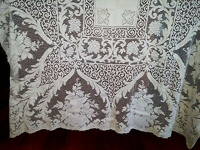 Quaker Lace With Loops Beige Tablecloth