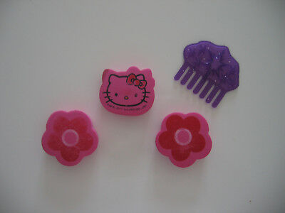 Lot de 3 tampons (Hello kitty) +1 peigne en cadeau