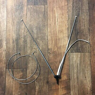 """Vintage TV Antenna Bunny Ears Telescoping 11"""" To 39"""" Television Reception Signal"""