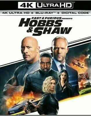 Fast & Furious Presents: Hobbs & Shaw-4K Only with Slip Cover-Ships Now