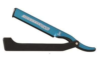 Dovo Shavette Replaceable Blade Straight Razor-Blue with Black Handle DV201-140
