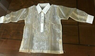 Barong Tagalog Size 6 Approximately fits to  4-6 years old Boys
