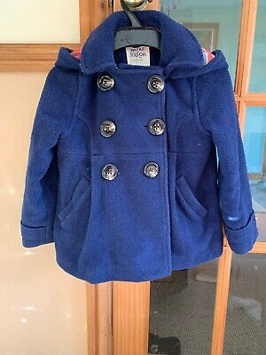 Girl's Mini Boden Coat - Navy Blue Wool Mix - Aged 5-6 years