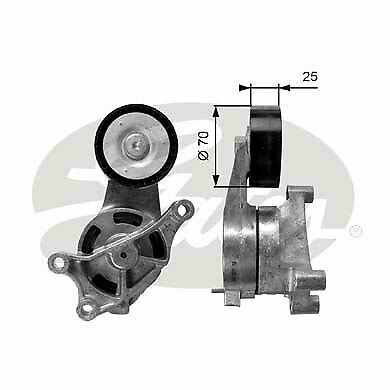 VW EOS 1F 2.0D Aux Belt Tensioner 06 to 08 BMM Drive V-Ribbed INA 03G903315C New