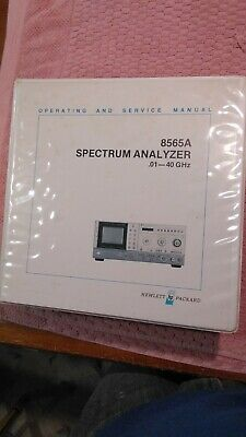 HP 08565-90014 8565A Spectrum Analyzer Complete Operating + Service Manual
