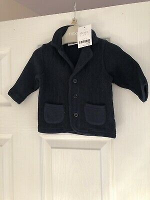 Baby Boys Navy Smart Cardigan Age Up To 3 Months NEXT BNWT