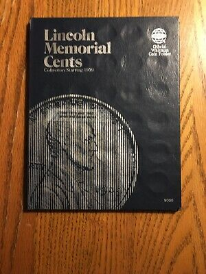 Whitman Folder For Lincoln Memorial Cents 1959 - 1996 With 32 Different PeNNieS