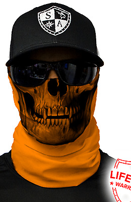 SA ORANGE TACTICAL Face SHIELD Sun Mask Balaclava Head band Bandana do rag skull