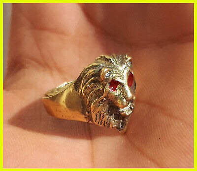 stunning rare late medieval authentic copper bronze ring superb rare type