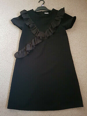 Girls Black fab party short sleeved dress aged 12 years with fast and free ship