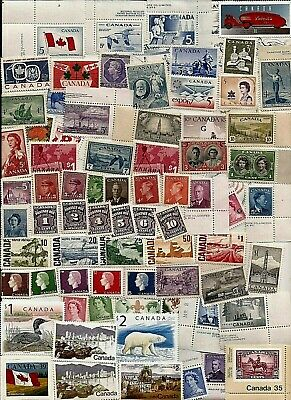 vintage MNH MINT UNUSED FULL GUM CANADA Canadian postage stamps lot C20Y