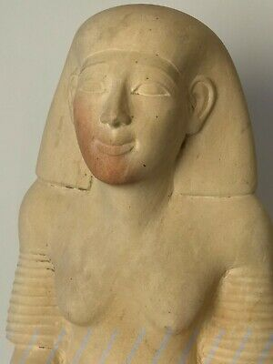 EGYPTIAN LIMESTONE STATUE OF A KNEELING LADY IN PRAYER (after the antique)