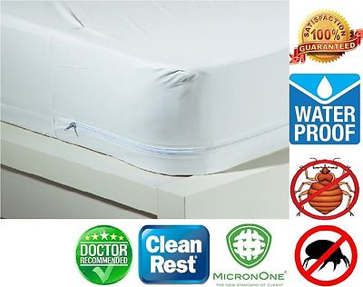 All American Allergy Relief Waterproof Zippered Vinyl Mattress Cover /Protector