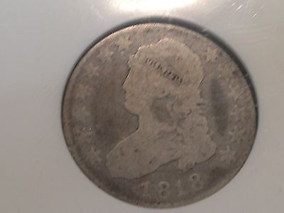 1818  NGC G-6  Large Size Capped Bust Quarter