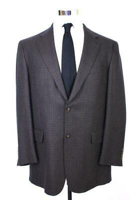 mens blue green houndstooth AUSTIN REED blazer jacket sport coat two button 42 R