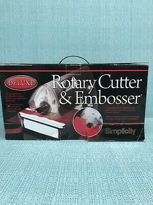 Simplicity Deluxe Rotary Cutter & Embosser 881711