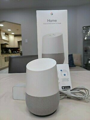 Google Home Personal Assistant Voice Activated Smart Speaker White Slate