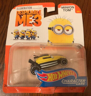 Hot Wheels Despicable Me 3 Minion Tom  Diecast Character Car #4//6 new mint
