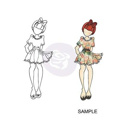 Prima Julie Nutting Betty Doll Stamp Paperdolls Mixed Media