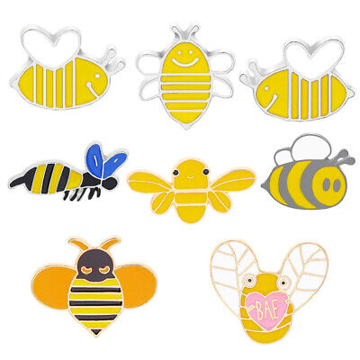 Kids Girls Cartoon Cute Fashion Animal Badge Bee Brooch Honey Enamel Pins