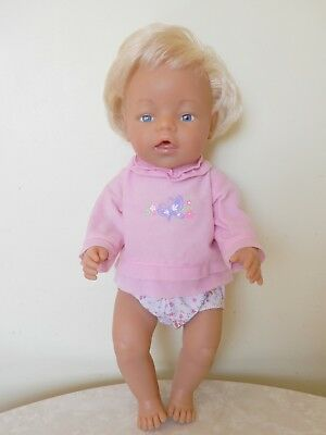 Vintage Max Zapf Creation 1980 Baby Born Doll D-96472 Roedental Blonde Hair 43Cm
