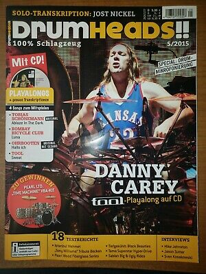 Drumhead German Magazine Danny Carey of Tool on Cover With Playalong CD NEW RARE