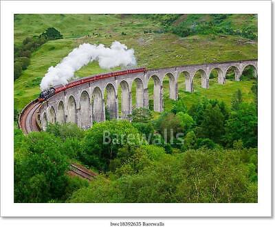 Detail Of Steam Train On Famous Art Print Home Decor Wall Art Poster - G