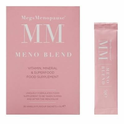 Megs Menopause Meno Blend Vitamin & Mineral Superfood 29 Vanilla Sachets New