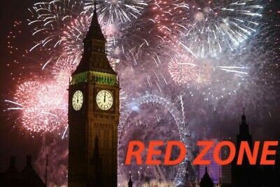 1 x  NYE 2019/2020 LONDON Firework Ticket - Red Area Entrance 4
