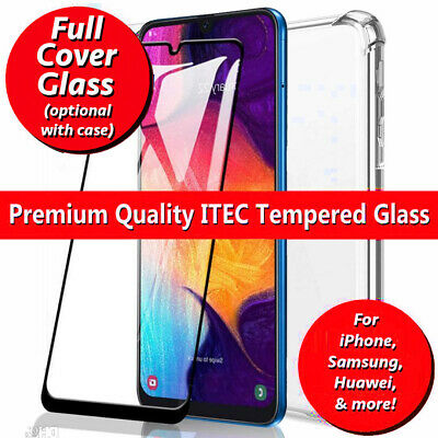 Gorilla Glass Screen Protector For Samsung Galaxy A20e A40 A50 A10 A70 Gel Case