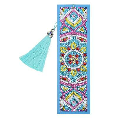 DIY Special Shaped Diamond Painting Crafts Leather Bookmark Tassel Book Marks UK