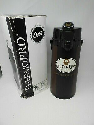 CURTIS TLXA-22 THERMOPRO THERMAL COFFEE AIR POT 2.2L Brown/Burgundy